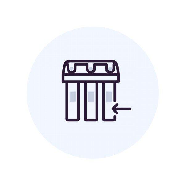 Установка обратноосмотического фильтра с насосом